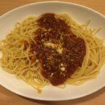 福山の西新涯店ジョイフルのミートソーススパゲッティ